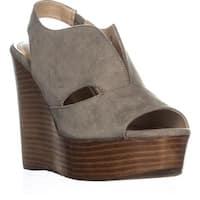 Callisto Franklin Wedge Sandals, Olive Suede