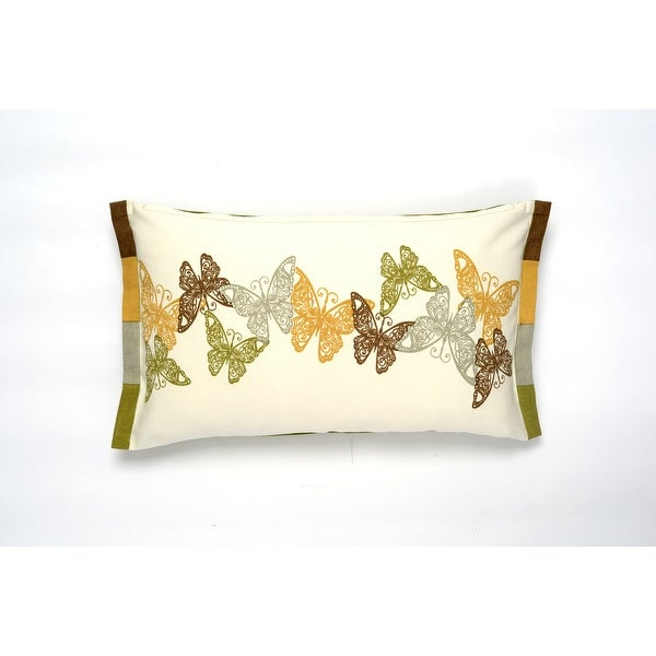 Darzzi Butterfly Lumbar Cushion Cover