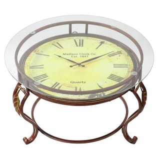 Aspire Home Accents 75648 Cocktail Table with Clock