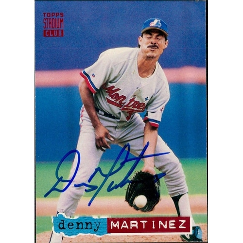 Signed Martinez Dennis Montreal Expos 1994 Topps Baseball Card Autographed
