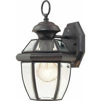 "Volume Lighting V9279 1-Light 11.75"" Height Outdoor Wall Sconce with Clear Beveled Glass - N/A"