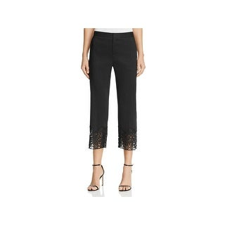 Kobi Halperin Womens Oriana Dress Pants Lace Hem Cropped