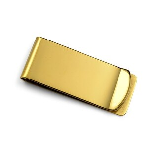 Bling Jewelry Gold Plated Stainless Steel Simple Classic Mens Money Clip