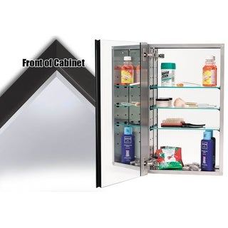 """Alno MC40244 4000 Series 15"""" x 25"""" Single Door Recessed Medicine Cabinet with Stainless Steel Interior and Contemporary Framed"""