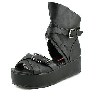 C Label Mollini 25 Open Toe Synthetic Platform Sandal
