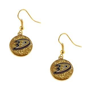 Anaheim Ducks NHL Glitter Dangle Earring Set