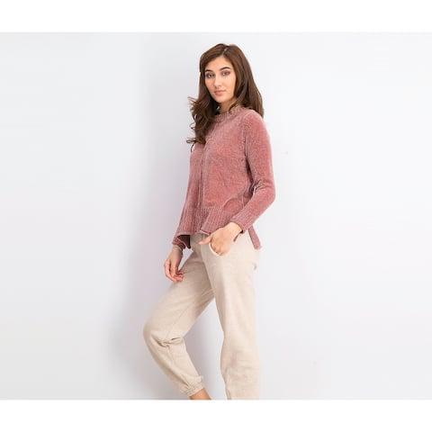 Style & Co Women's Petite Chenille Sweater Purple Size Large