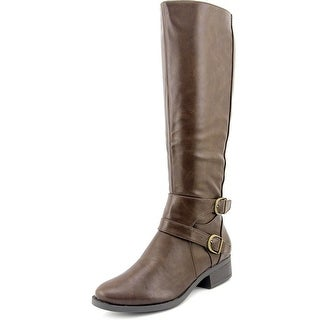 Madeline Taken For A Ride Women Round Toe Synthetic Brown Knee High Boot