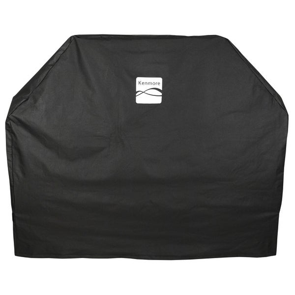 "Kenmore Grill Cover Fits Grills Up to 65"" x 25"" x 46"". Opens flyout."