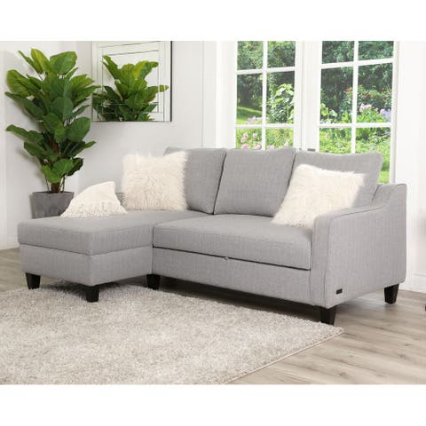 Abbyson Haskell Grey Convertible Sofa Bed