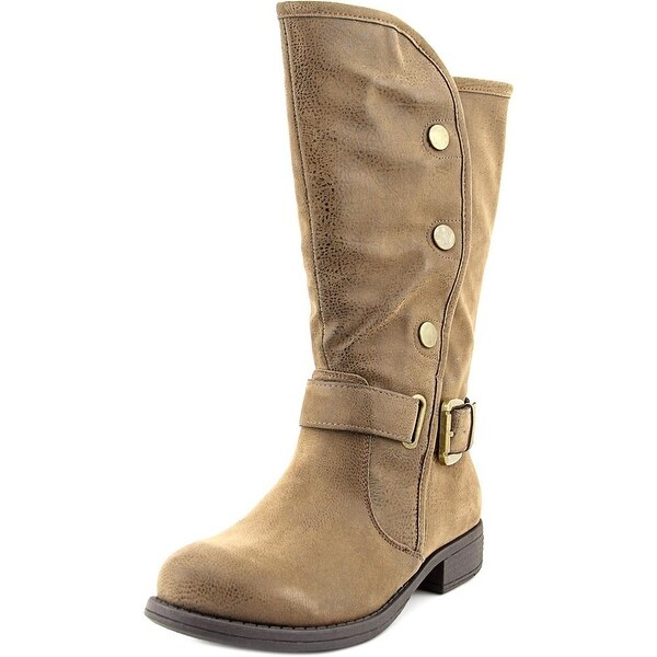 Axxiom Real Deal Round Toe Synthetic Mid Calf Boot