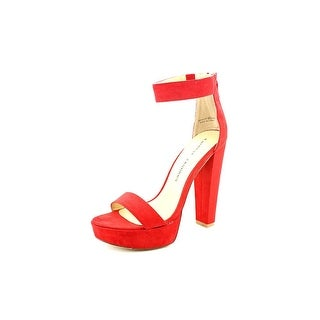 Chinese Laundry Make Believe Women Open Toe Synthetic Red Platform Sandal