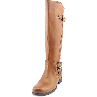 Naturalizer Jenson Wide Calf Women Round Toe Leather Knee High Boot