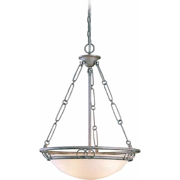 "Volume Lighting V2683 Esmeralda 3-Light Bowl Shaped 24.75"" Height Pendant with Scavo Glass Bowl Shade - n/a"