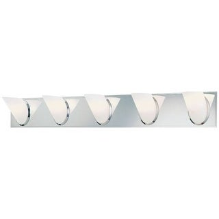 """Kovacs P5945 5 Light 37"""" Bathroom Vanity Light from the Angle Collection"""