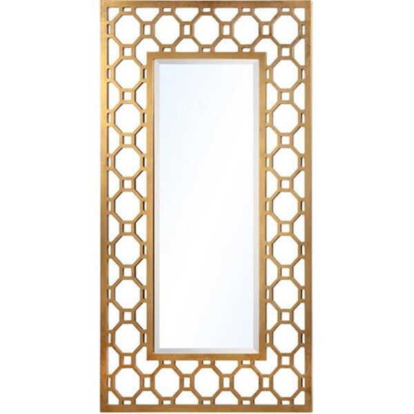 Shop Mariana Home 151018 Gold Leaf Mirror Archilles Free Shipping