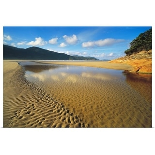"""Tidal River mouth at Norman Bay in Wilsons Promontory National Park,  Australia"" Poster Print"
