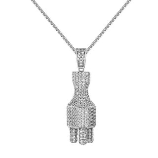 Switch Plug Socket Pendant Lab Diamonds Pave Set 24 Inch Chain Classy