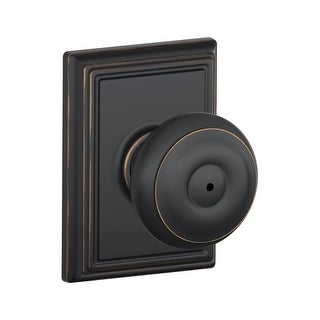 Schlage F40 GEO ADD Privacy Georgian Door Knobset With The Decorative  Addison Rose