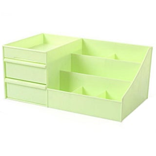 Drawer Type Organizer Comestics Sotrage Box 3127 L green