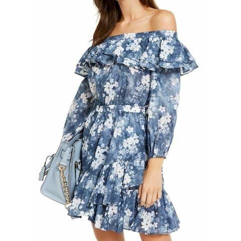 Michael Michael Kors Women Dress Medium Off Shoulder Floral