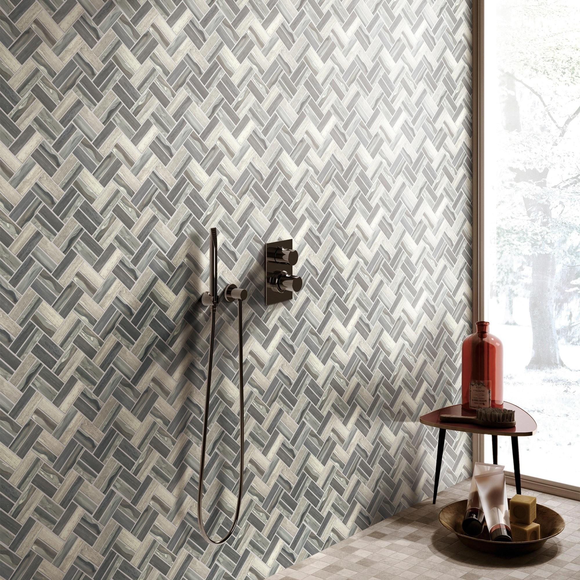 - Shop TileGen. Recycle Herringbone Wooden Look 1
