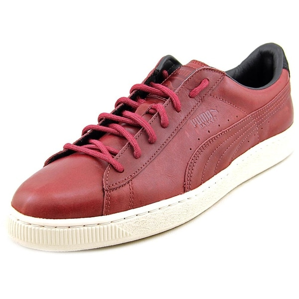 Puma Basket Citi Series Round Toe Leather Sneakers