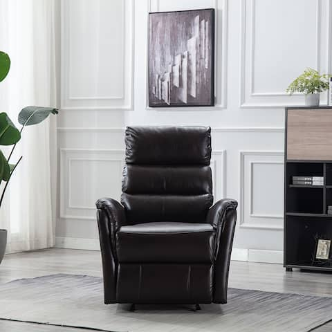 Manual Recliner Chair - Faux Leather Heavy Duty Home Theater Seating