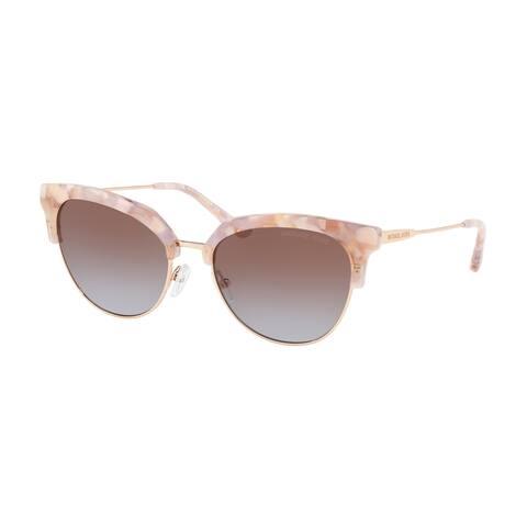 Michael Kors MK1033 334168 54 Pastel Pink Mosaic/shiny Rose Woman Irregular Sunglasses