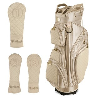 iBella Tan Ladies Golf Cart Bag (with 3 Matching Headcovers)
