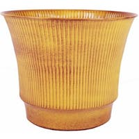 Robert Allen MPT01844 Madison 10 in. Topaz Yellow Metal Planter