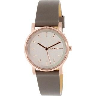 Dkny Women's Soho NY2341 Rose Gold Leather Quartz Fashion Watch