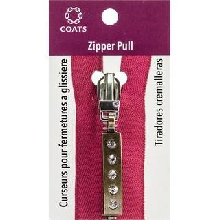 Coats Zipper Pull-Antique Brass 5 Stone Bar
