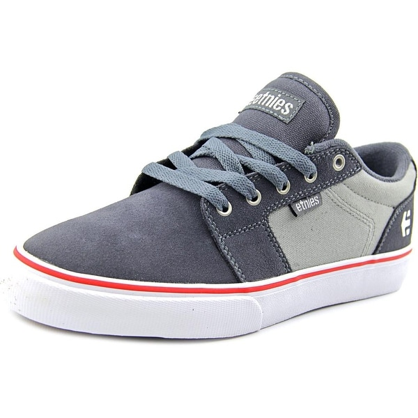 Etnies Barge LS Men Round Toe Leather Gray Skate Shoe