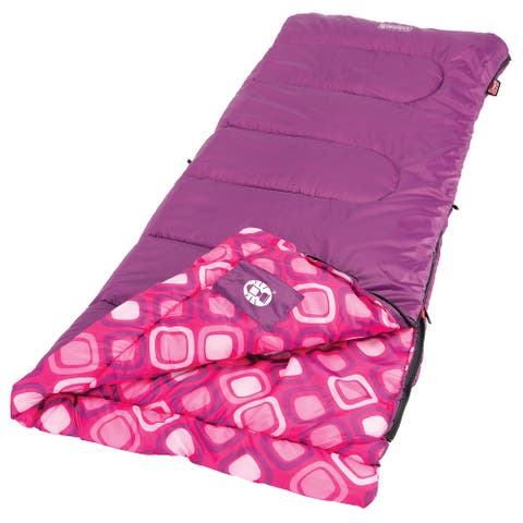 Coleman 66 in. x 26 in. Youth Girls Rectangular Sleeping Bag w/ Thermolock System
