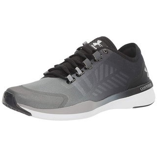 Under Armour Womens W CHARGED PUSH TR SEG Fabric Low Top Lace Up Fashion Snea...