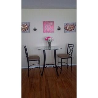 Dorel Living Valerie 3-piece Counter Height Dining Set