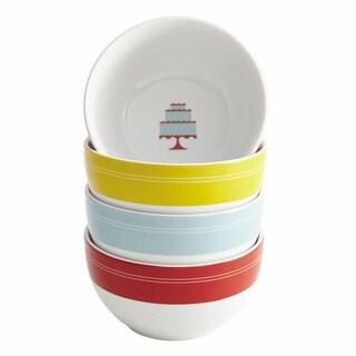 Cake Boss Porcelain Ice Cream Bowl Set Mini Cakes Pattern 4-pc Set - Assorted