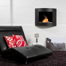 Bio Blaze BB-D2B Diamond Type 2 Wall Mount Fire Place, Black