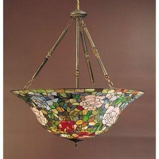 "Meyda Tiffany 26554 5 Light 38"" Wide Pendant with Handmade Shade - tiffany glass"
