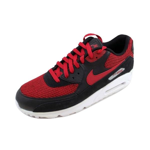 a9c508328624e Shop Nike Men's Air Max 90 Essential Black/Tough Red-Tough Red ...