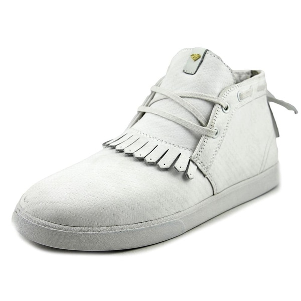 Diamond Supply Co Jasper Men Round Toe Canvas White Sneakers