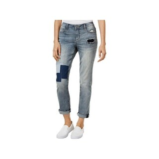 Earl Jean Womens Boyfriend Jeans Denim Patchwork (More options available)