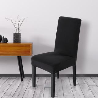 Unique Bargains Black Spandex Stretch Washable Dining Chair Cover