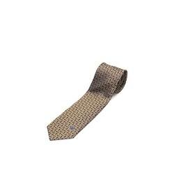 Versace Men's Slim Silk Tie Gold Brown