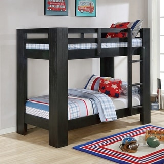 Link to Furniture of America Kans Transitional Twin/Twin Solid Wood Bunk Bed Similar Items in Kids' & Toddler Beds