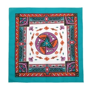 Link to CTM® Women's Cotton Aztec Turquoise Bandanas - one size Similar Items in Hair Accessories