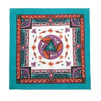 CTM® Women's Cotton Aztec Turquoise Bandanas - One size