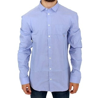 Balmain Balmain Blue striped casual shirt - it52-xl