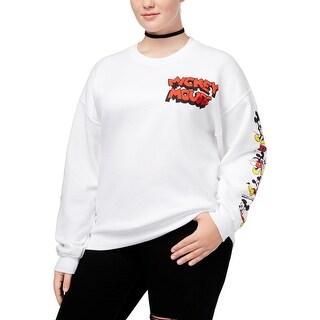 Hybrid Womens Plus Disney Sweatshirt Crew-Neck Graphic